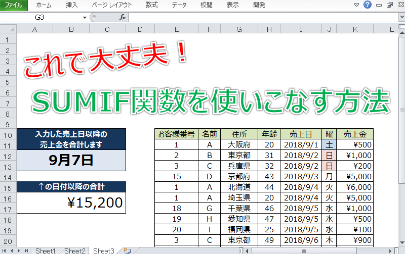 Excel SUMIFアイキャッチ